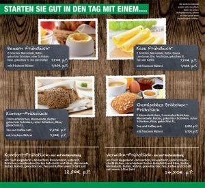 Frühstückskarte Hof Hagedorn